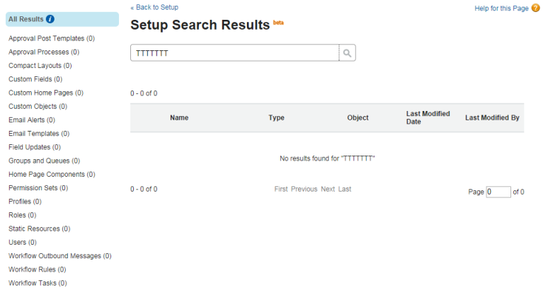 advanced setup search