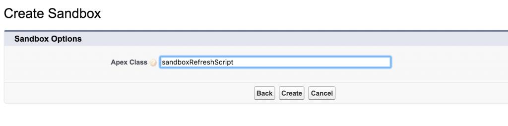 selectsandboxscript